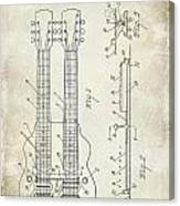 1941 Gibson Electric Guitar Patent Drawing Canvas Print