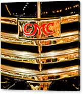 1941 Gmc Suburban Woody Wagon Grille Emblem Canvas Print