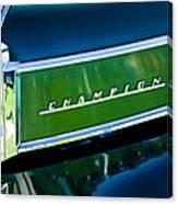 1941 Sudebaker Champion Coupe Emblem Canvas Print