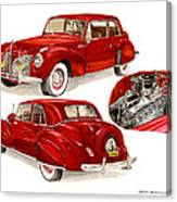 1941 V 12  Lincoln Continental Canvas Print