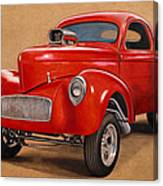 1941 Willys Gasser Coupe Drawing Canvas Print