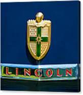 1942 Lincoln Continental Cabriolet Emblem Canvas Print