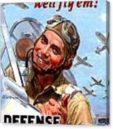 1944 - United States War Bonds And Stamps Poster - Wolrd War II - Color Canvas Print