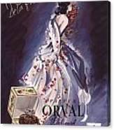 1946 Advertisement Molinard Orval Perfume Canvas Print