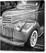 1946 Chevrolet Sedan Panel Delivery Truck Bw Canvas Print
