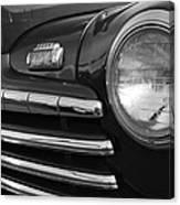 1946 Ford Deluxe 2 Door Sedan Head Light Canvas Print