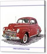 Ford Special Deluxe Coup E  From 1946  Canvas Print