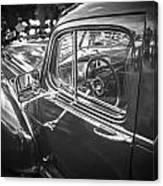 1946 Hudson Super Six Sedan Bw Canvas Print