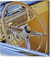 1947 Cadillac 62 Steering Wheel Canvas Print