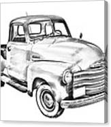 1947 Chevrolet Thriftmaster Pickup Illustration Canvas Print