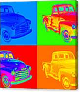 1947 Chevrolet Thriftmaster Pickup Pop Art Canvas Print