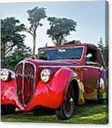 1947 Delahaye 135m Pennock Cabriot II Canvas Print