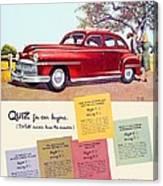1947 - Desoto Automobile Advertisement - Color Canvas Print