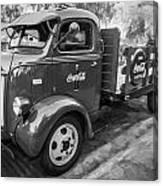 1947 Ford Coca Cola C.o.e. Delivery Truck Bw Canvas Print