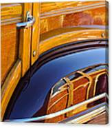 1947 Mercury Woody Reflecting Into 1947 Ford Woody Canvas Print