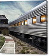 1947 Pullman Coach Train Car Textured Canvas Print