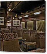 1947 Pullman Railroad Car Interior Seating Canvas Print