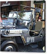 1947 Us Army Jeep Side View Canvas Print