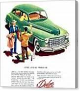 1948 - Dodge Automobile Advertisement - Color Canvas Print