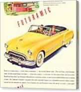 1948 - Oldsmobile Convertible Automobile Advertisement - Color Canvas Print