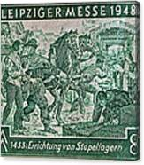1948 Allied Occupation German Stamp Canvas Print