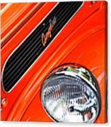 1948 Anglia 2-door Sedan Grille Emblem Canvas Print
