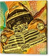 1948 Chev Gold Tie Dye Tilt Car Art Canvas Print