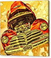 1948 Chevy Gold Acid Art Canvas Print