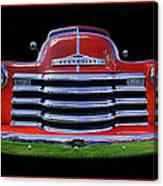 1948 Chevy Pickup W/badge Canvas Print