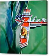 1948 Chrysler Town And Country Convertible Emblem -0974c Canvas Print