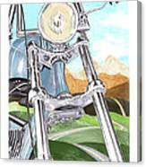 1948 Harley Davidson W L A Canvas Print