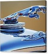 1948 Jaguar 2.5 Litre Drophead Coupe Hood Ornament Canvas Print