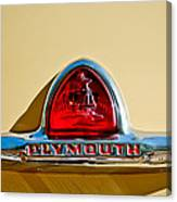 1948 Plymouth Deluxe Emblem Canvas Print