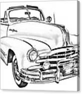 1948 Pontiac Silver Streak Convertible Illustration Canvas Print