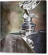 1948 Rolls-royce Hood Ornament - Emblem Canvas Print