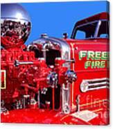1949 Ahrens Fox Piston Pumper Fire Truck Canvas Print