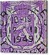 1949 Belgium Stamp - Brussels Cancelled Canvas Print
