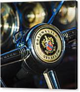 1949 Buick Roadmaster Riviera Coupe Steering Wheel Emblem Canvas Print
