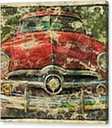 1949 Red Ford Coupe Canvas Print