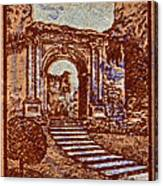 1949 San Francisco Ruins Dominican Republic Stamp Canvas Print