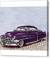 Chopped 1950 Cadillac Coupe De Ville Canvas Print