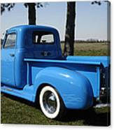 1950 Chevrolet Pick Up Baby Blue Canvas Print