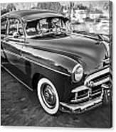 1950 Chevrolet Sedan Deluxe Painted Bw   Canvas Print