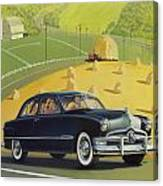 1950 Custom Ford - Square Format Image Picture Canvas Print