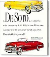 1950 - De Soto Sportsman Convertible - Advertisement - Color Canvas Print