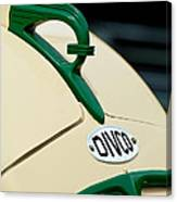 1950 Divco Milk Truck Hood Ornament Canvas Print