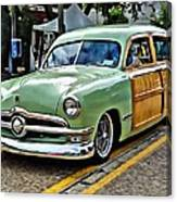 1950 Ford Deluxe Woody Station Wagon Canvas Print
