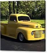 1950 Ford F1 Pickup Truck Canvas Print