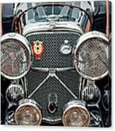 1950 Jaguar Xk120 Roadster Grille Canvas Print