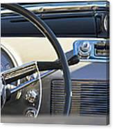1950 Oldsmobile Rocket 88 Steering Wheel 3 Canvas Print